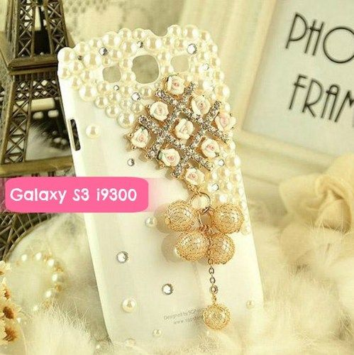 Bling Crystal Sparkle Polymer Clay Flowers Samsung Phone Case