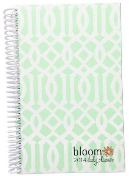 Mint Trellis design 2014 bloom daily planner January 2014 - December 2014