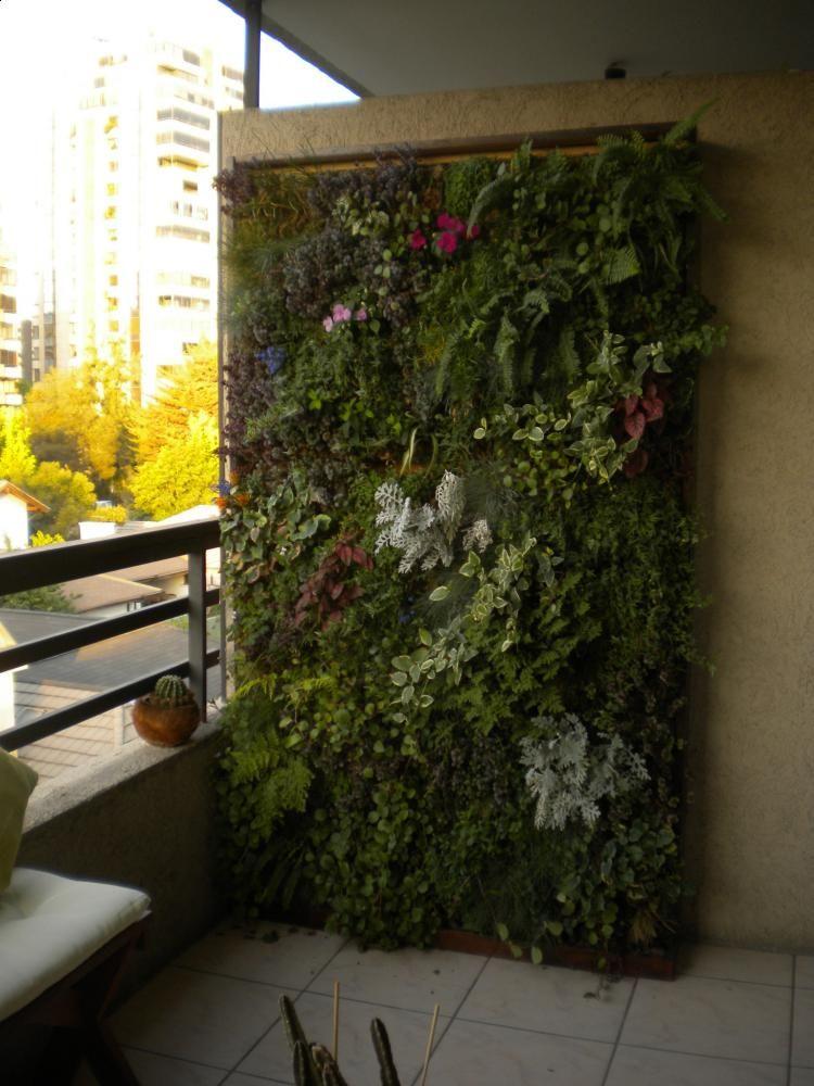Jardin Modular (1x1,80 m) en Terraza Departamento | Ideas patio ...