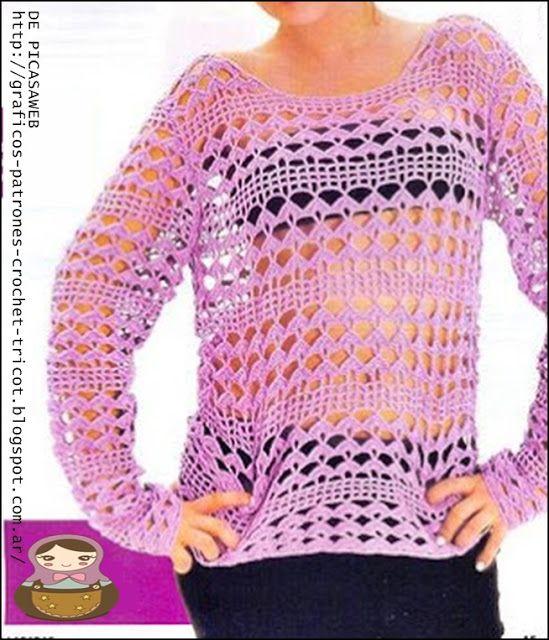 TEJIDOS A CROCHET - GANCHILLO - PATRONES | crochet | Pinterest ...