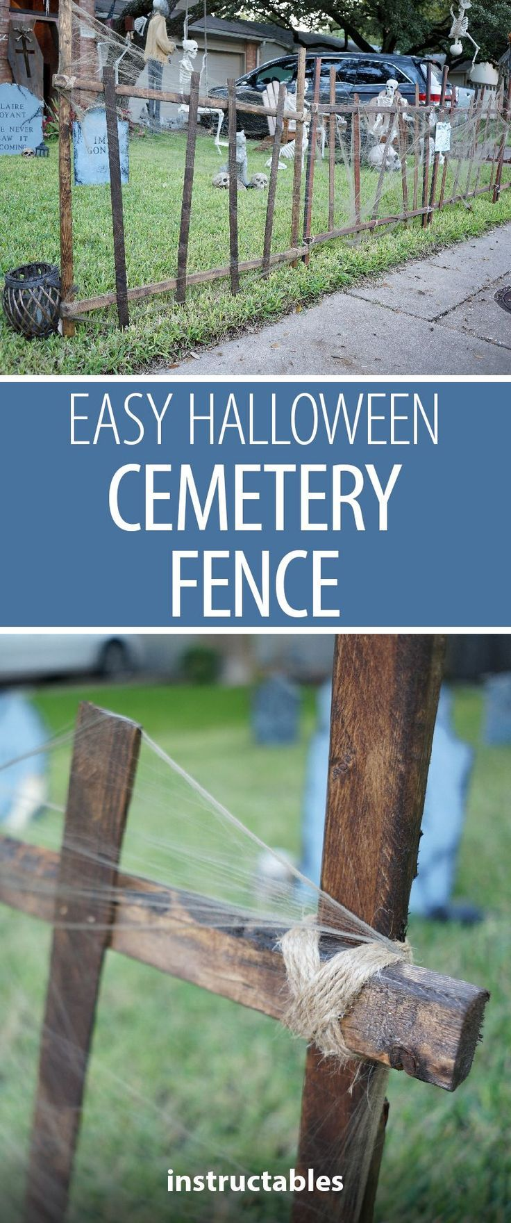 Easy Halloween Cemetery Fence  Halloween Decorations