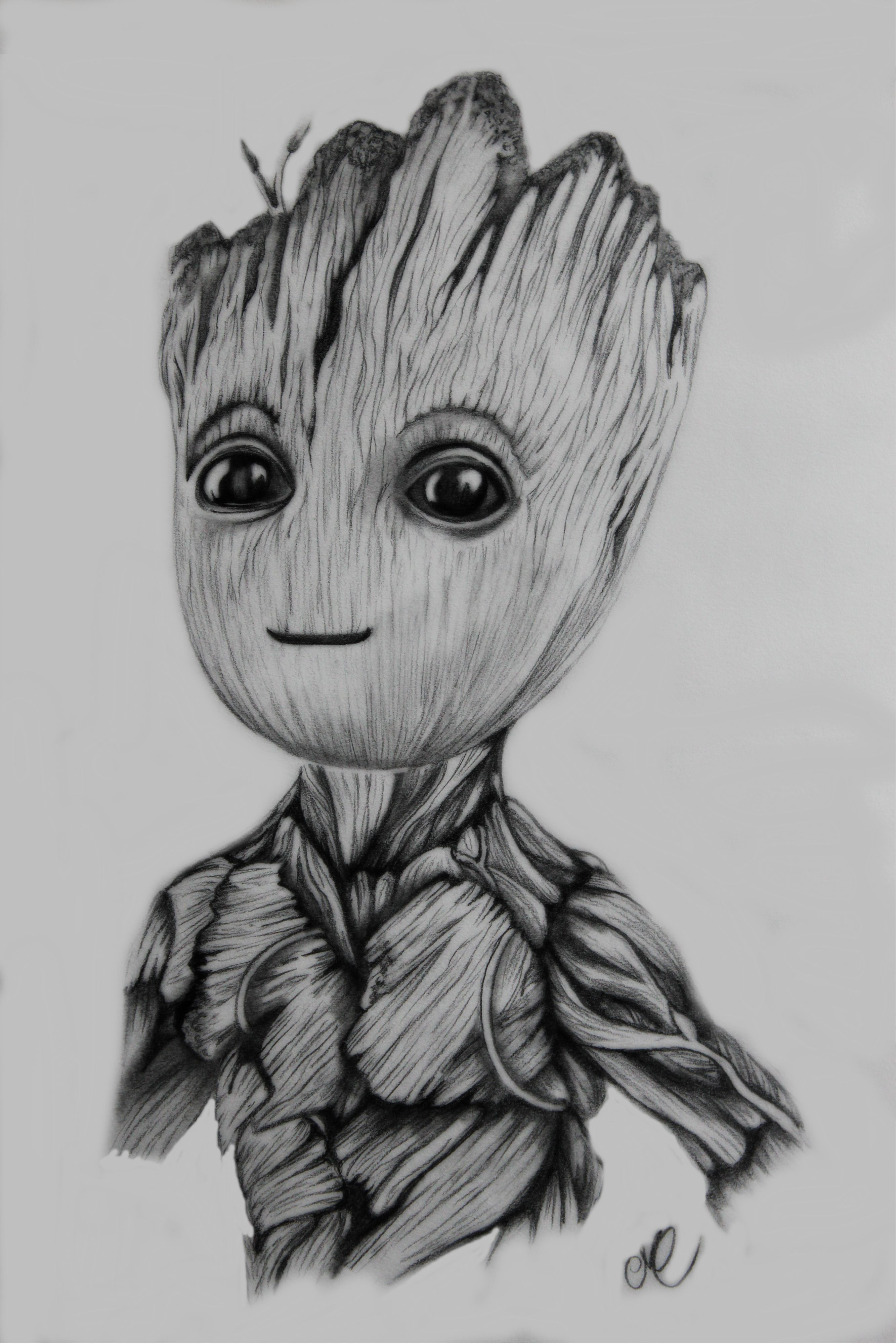 Baby groot pencil drawings caricatures to draw graphite drawings color pencil