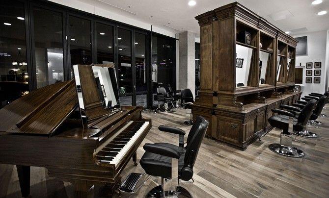 Styl Industrialny Salon Fryzjerski
