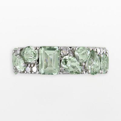 $120 Sterling Silver Green Amethyst Ring (Mom's Ring)