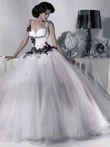 gothic wedding dresses | Gothic Weddings: black and white dress ...