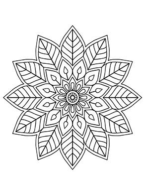 Pin Auf Mandala Blumen