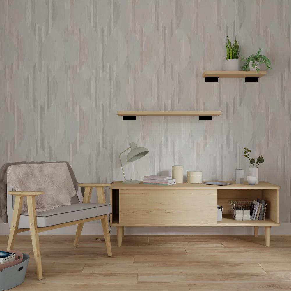 Nonwoven wallpaper TANJA colour sandy beige Interior