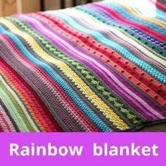Gratis Haakpatroon Regenboog Sampler Deken Nl En Eng Crochet