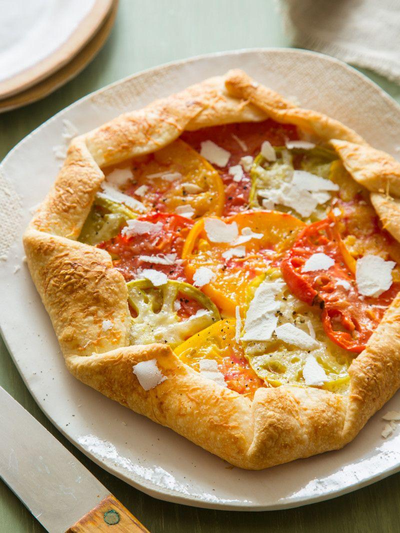 Heirloom Tomato Galette   Rezept   Dinner Ideas   Pinterest   Essen ...