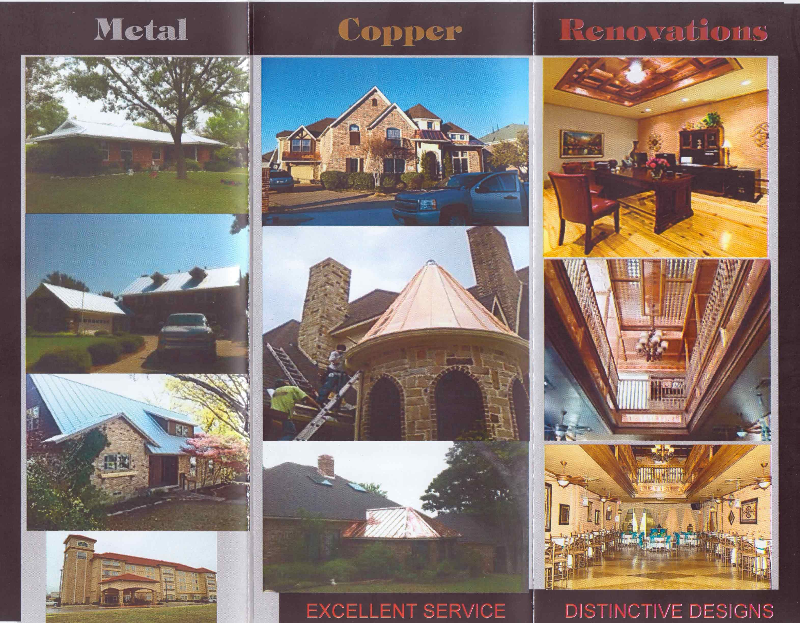 Brochure Of Some Of Our Work Call Us Today 214 924 8164 Metal Roof Distinctive Designs Design