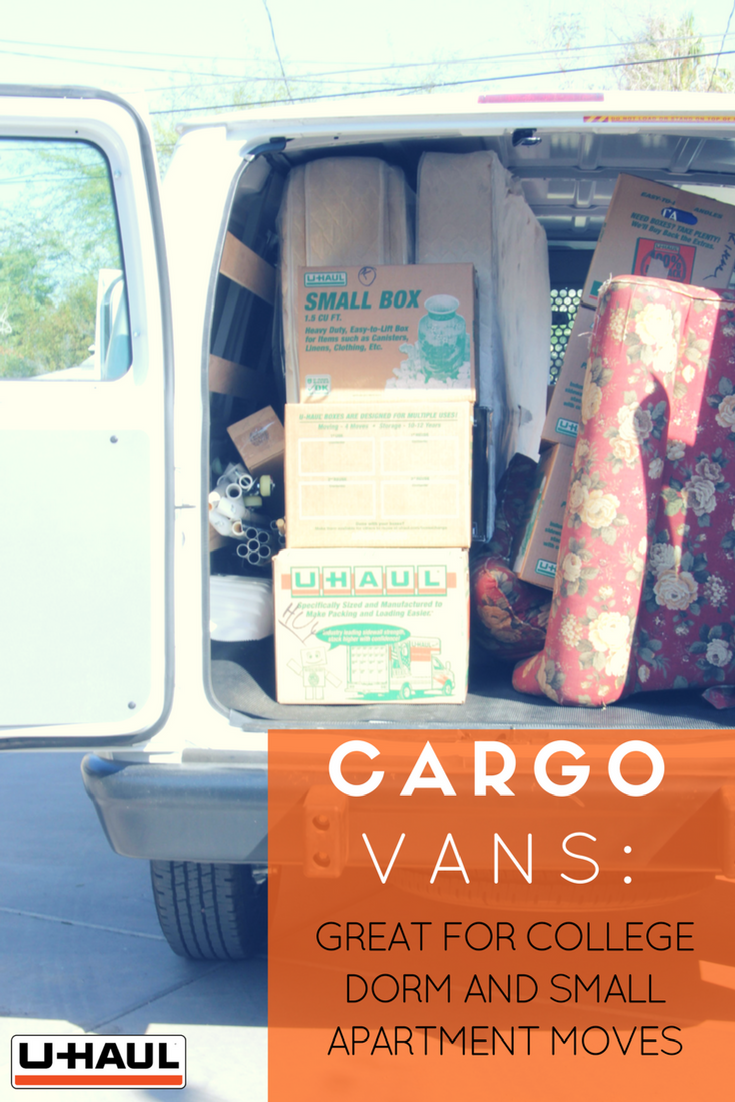 U Haul Cargo Vans Are Perfect For Small Local Moves Whether You Need To Transport The Basics To Your College Dorm Or Move Into A Cargo Van Cargo Rental Vans