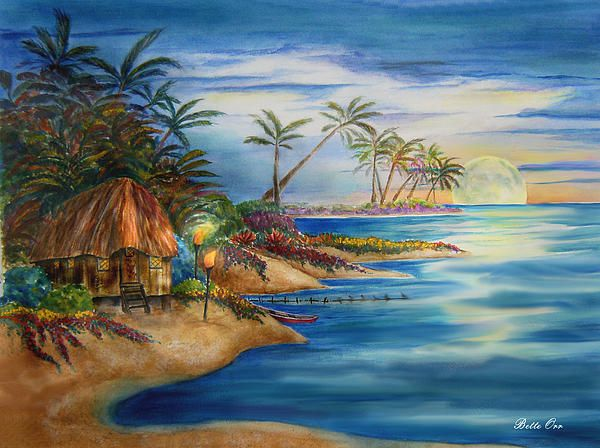 """Paradise Retreat"" transparent watercolor by Bette Orr..... www.betteorr.com"