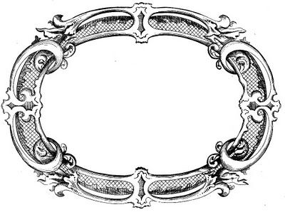 vintage clip art fancy frame if i ever learn to use a glue gun rh pinterest com vintage floral frame clipart vintage frame clipart png
