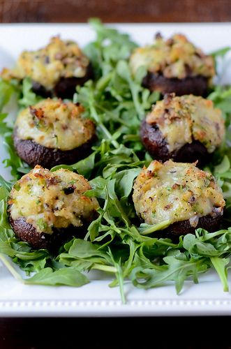 Crab and Brie Stuffed Mushrooms