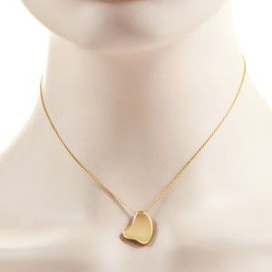 Tiffany & Co. 18K Yellow Gold Elsa Peretti Full Heart Pendant Necklace