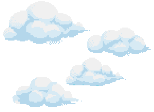Clouds Transparent And Pixel Image On We Heart It Cloud Stickers Overlays Transparent Clouds