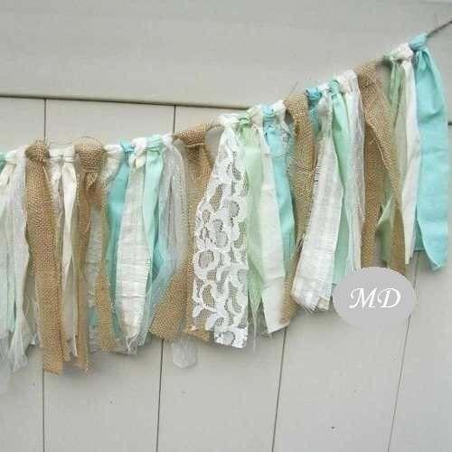 Banderines guirnaldas de tela tiras linea romantica - Guirnaldas de tela ...