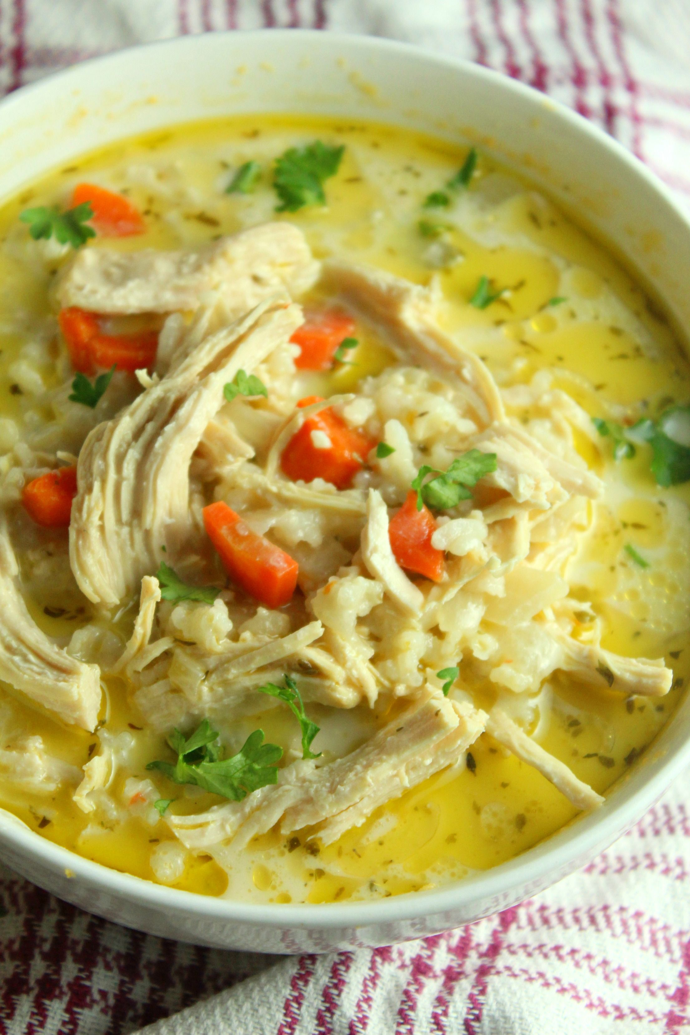 Easy Chicken Rice Soup Recipe In 2020 Chicken Rice Soup