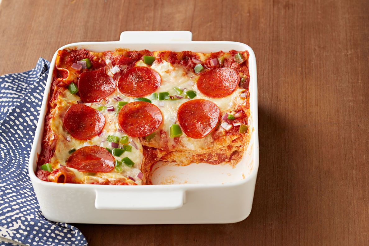 Easy Pepperoni Pizza Lasagna