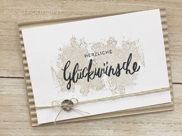 Papierforma(r)t - Liebevolle Worte - Geburtstagskarte - Artisan Textures - Wellpapier