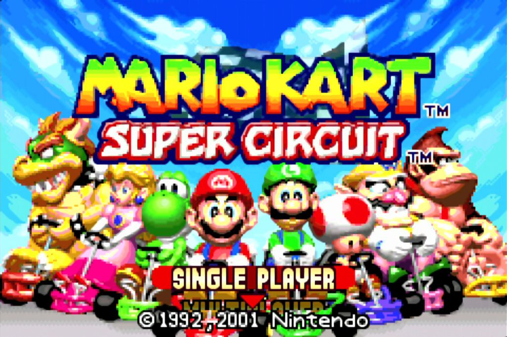 Mario Kart Super Circuit Gba On The Retron 5 Hq2x Filter