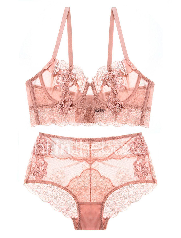 c14aeb7ed Mulheres Super Sexy Lingerie com Renda   Conjunto Roupa de Noite - Com  Transparência Sólido de 6391483 2018 por R 100