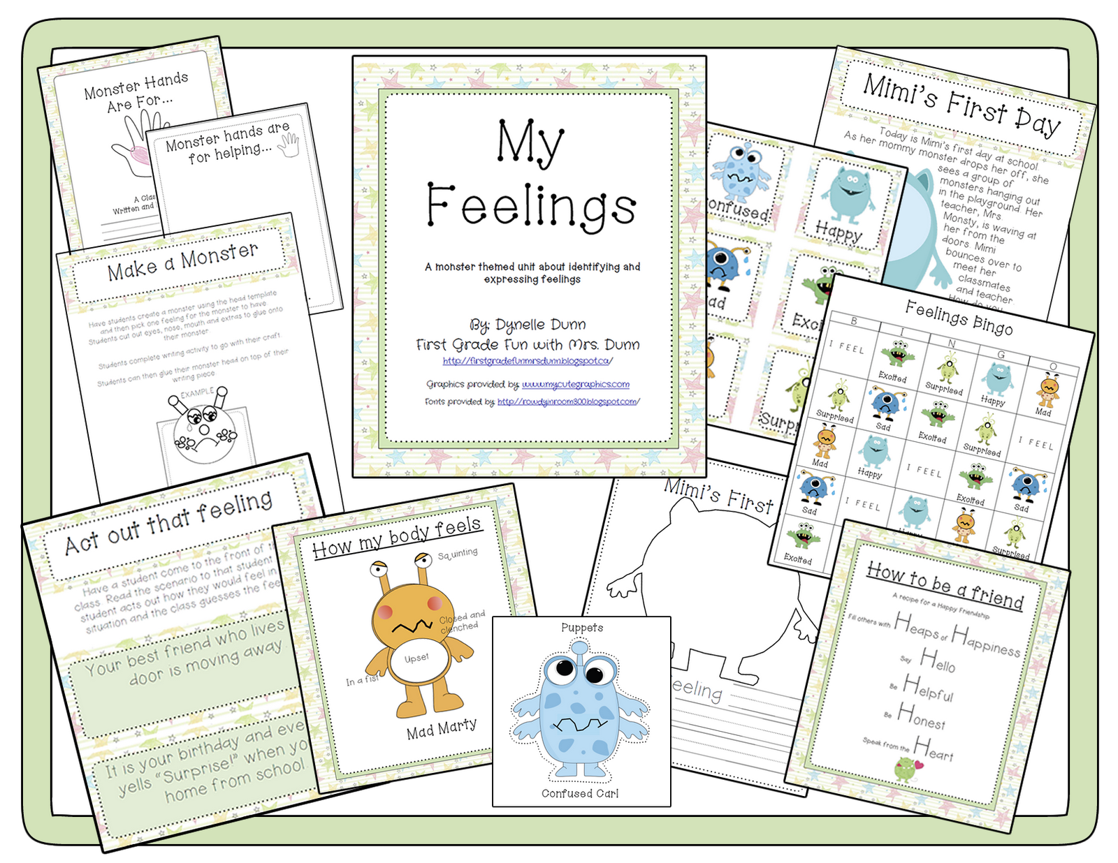First Grade Fun My Feelings Unit 8 00