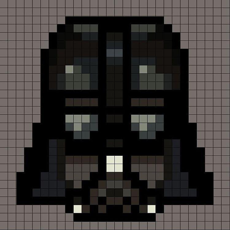 Pixel Id Card Darth Vader Pixel Art Darth Vader Star Wars