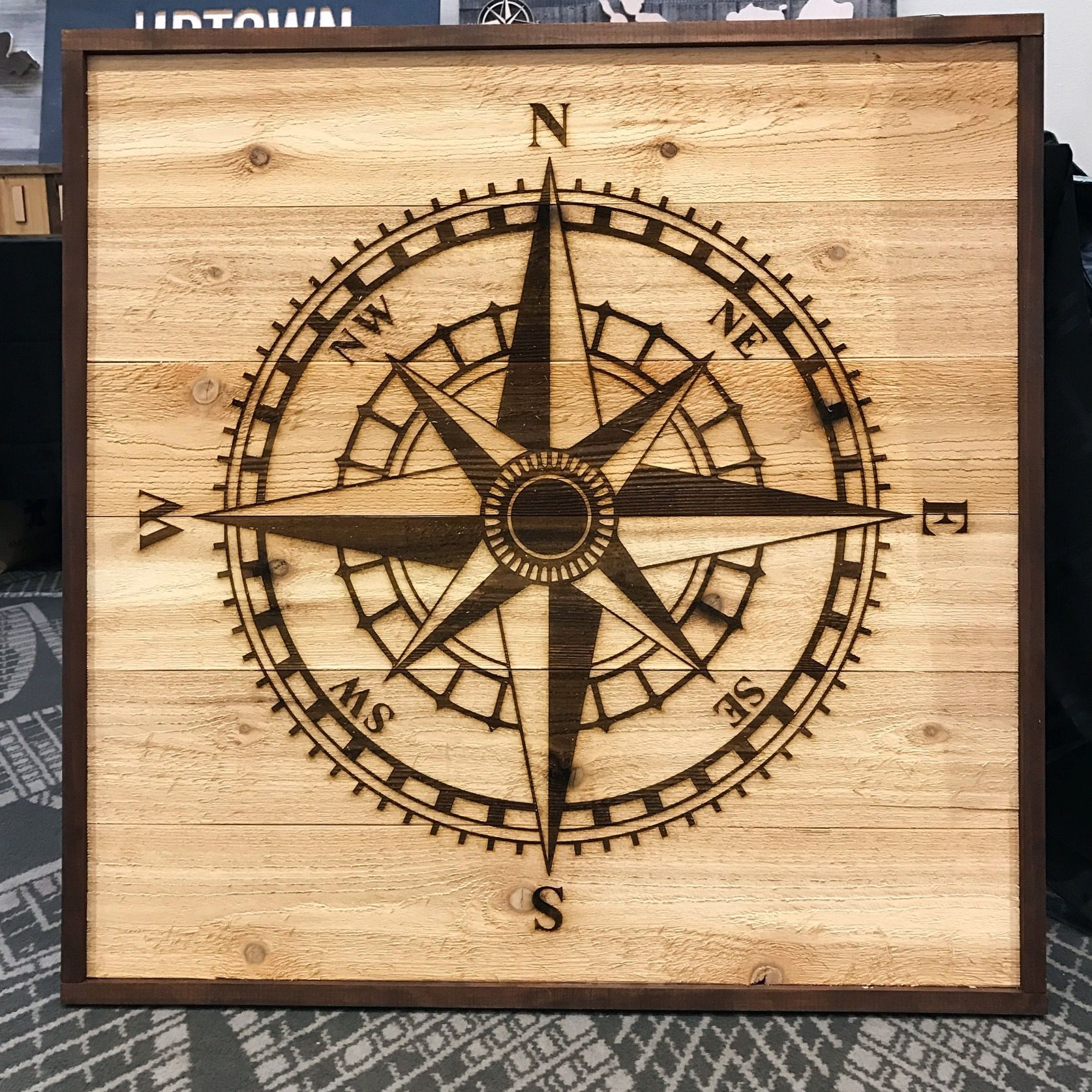 Rustic Compass Rose | Wooden Wall Art and Decor | Pinterest ...