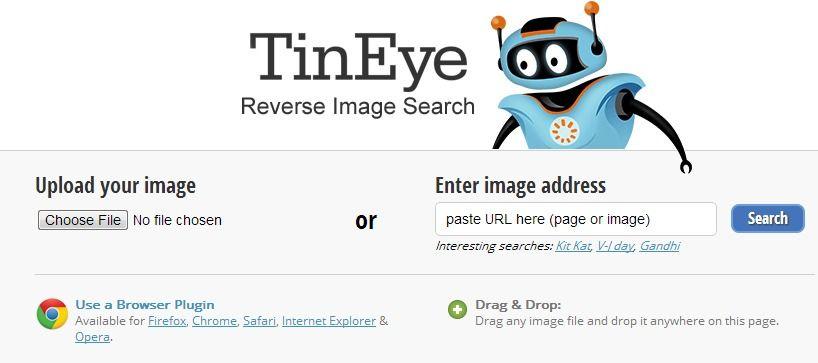 Tineye Reverse Image Search Http Www Tineye Com