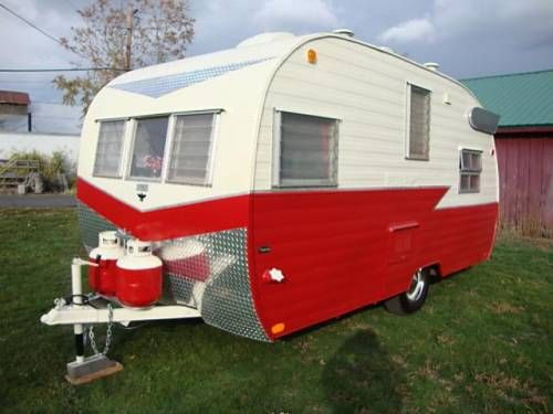 restored vintage 1960 mobile scout canned ham trailer w bathroom tin can classifieds great. Black Bedroom Furniture Sets. Home Design Ideas