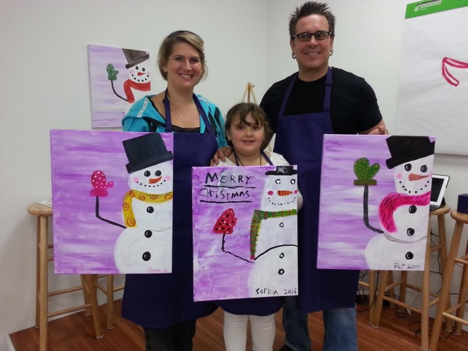 A painting session is a great way to have family fun! Register online at www.paintbrushesandparty.com