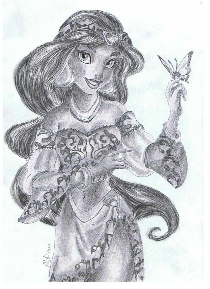 Royal Jasmine By Virginie25 Deviantart Com Disney Pixar