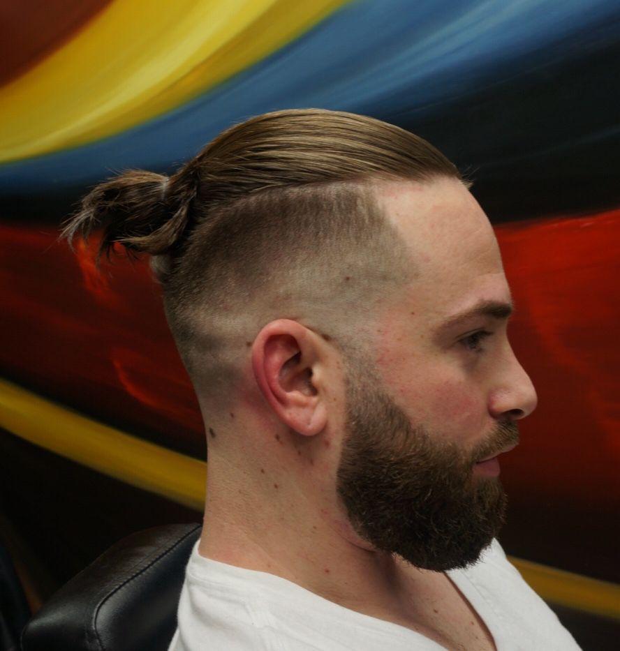Manbun Beard Fade Mens Hairstyles Man Bun Haircut Man Bun Hairstyles