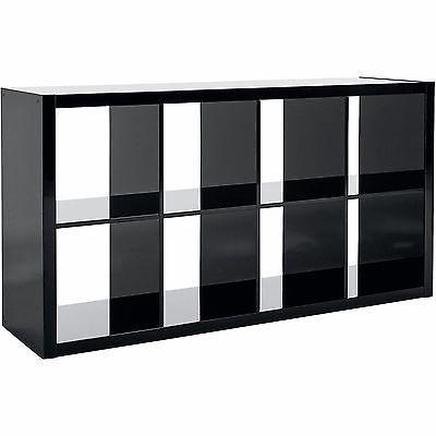 Organizer Bookcase 8 Cube Storage High Gloss Furniture Room Shelves Bookshelf Cube Storage Cube Shelves Cubby Storage