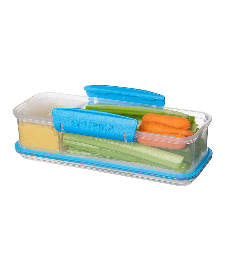Another great find on #zulily! Blue Snack Attack To-Go Container by ...