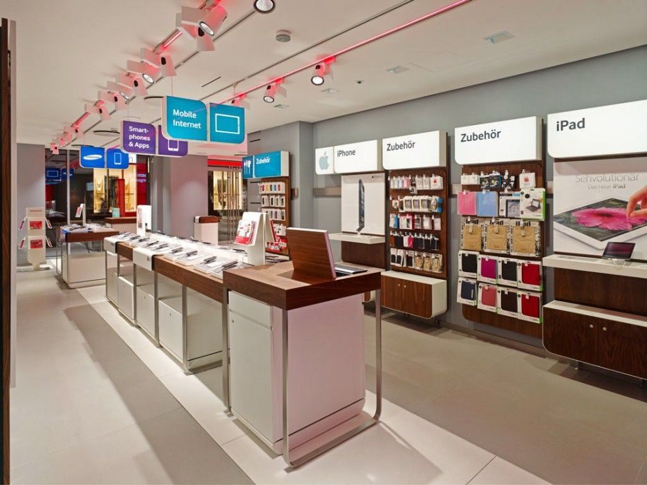 Wonderful Phone Store Interior Designs Spacious Vodafone Office Interior With Great Architecture Desig Store Design Interior Store Interior Mobile Phone Shops