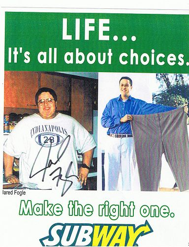3 Jared Fogle was a customer who started the subway diet where they