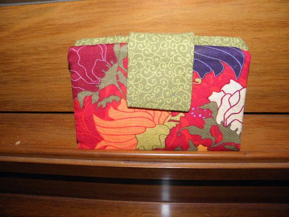 wallet bifold colorful pocketbook by AmysSewCuteCreations on Etsy, $17.95