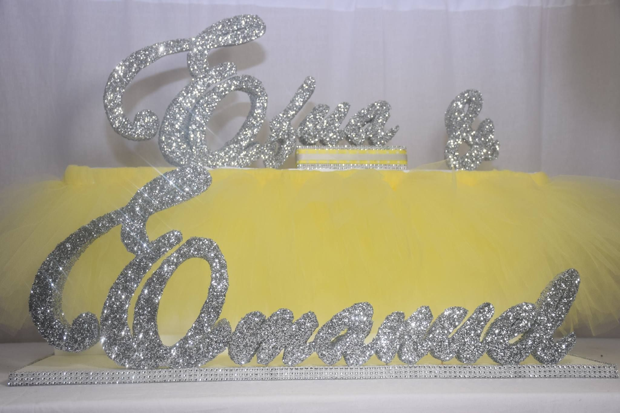 Styrofoam centerpiece for baby shower to match the tutu theme