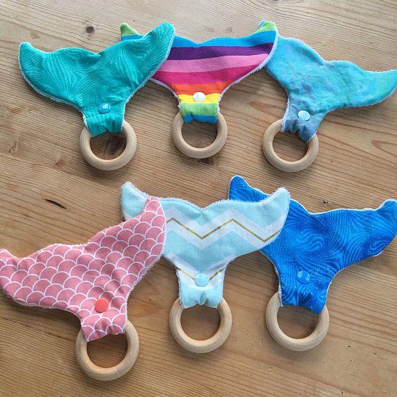 fabric teether wooden Teething Ring teething toy Wood teether natural Wood teether whale teething ring