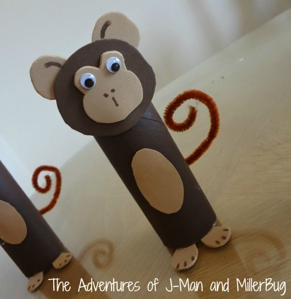 Toilet Paper Roll Monkeys Creations De Maternelle Artisanat De