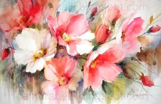 1000 Images About Fabio Cembranelli Aquarelle Fleurs Fleurs A