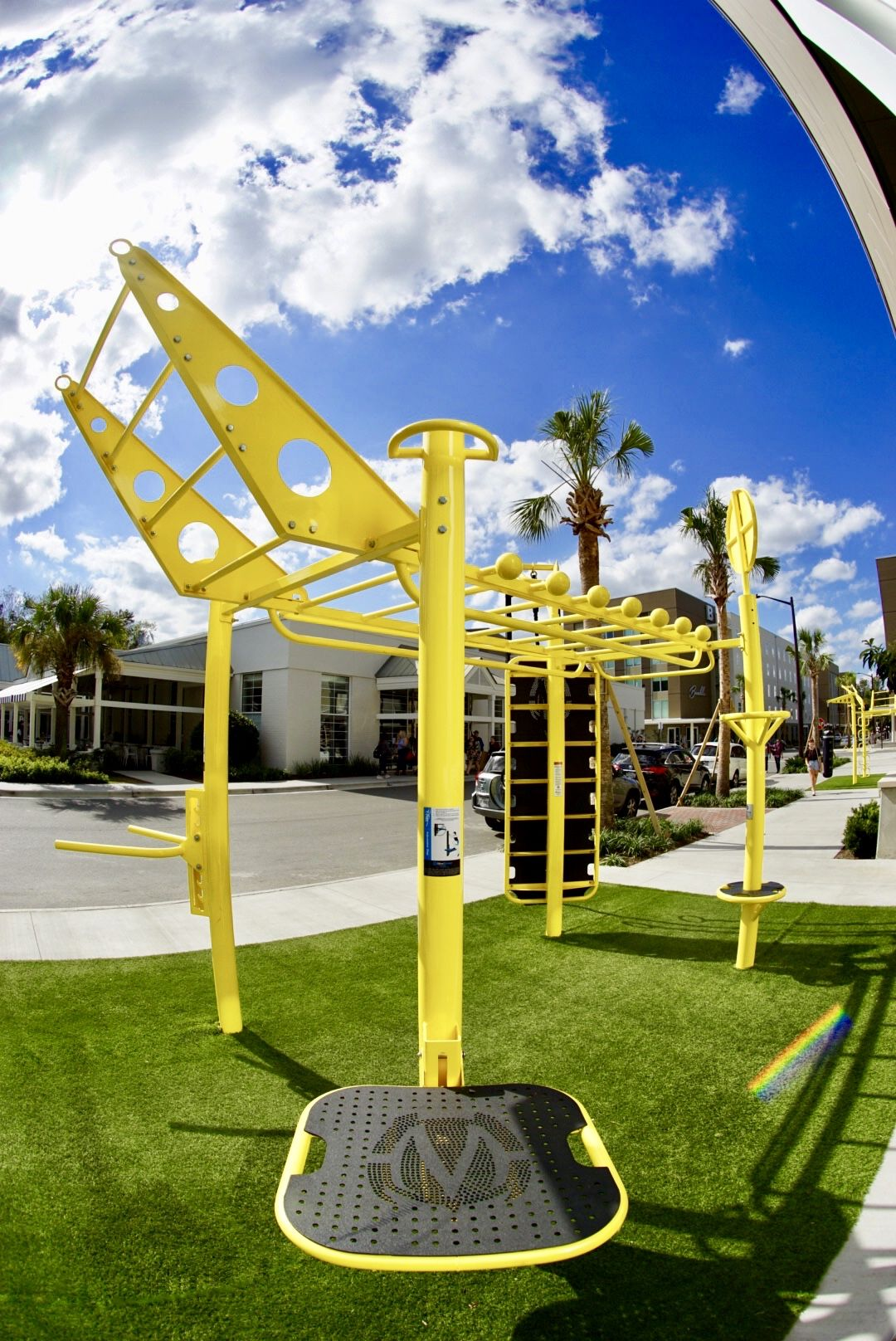 Outdoor fitness equipment at college campus movestrong t