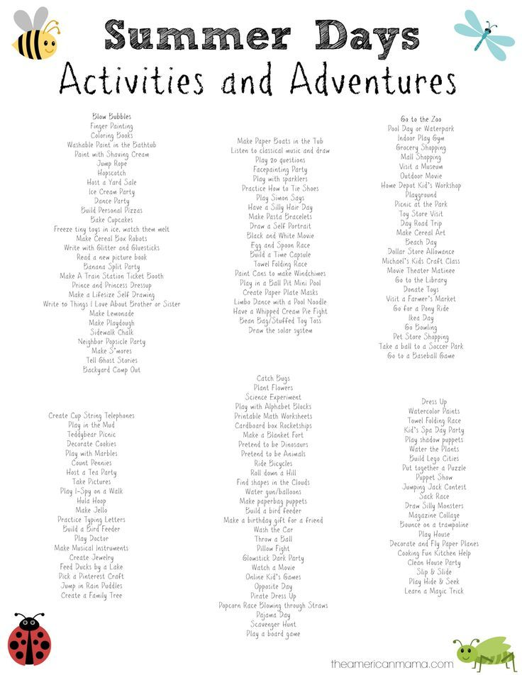 150+ Activities for Kids on Summer Break + Summer Schedule