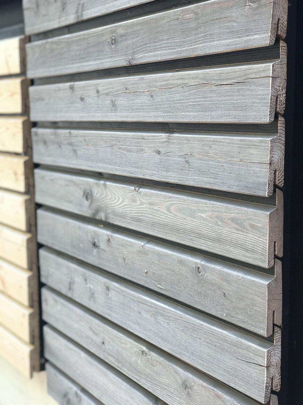 Easy Rhombus Blackline Fassadenprofil Mit Vergrauungslasur In 2020 Holzfassade Carport Holz Fassadenverkleidung