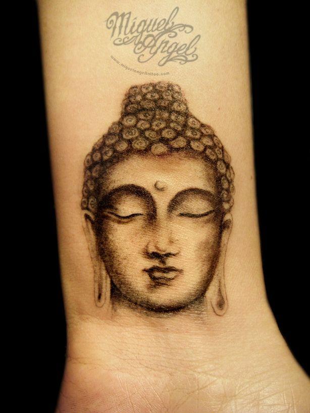 1b2ec37e356fe Buddha Head Tattoo On Wrist | Tattoobite.com | Tattoos | Buddha ...