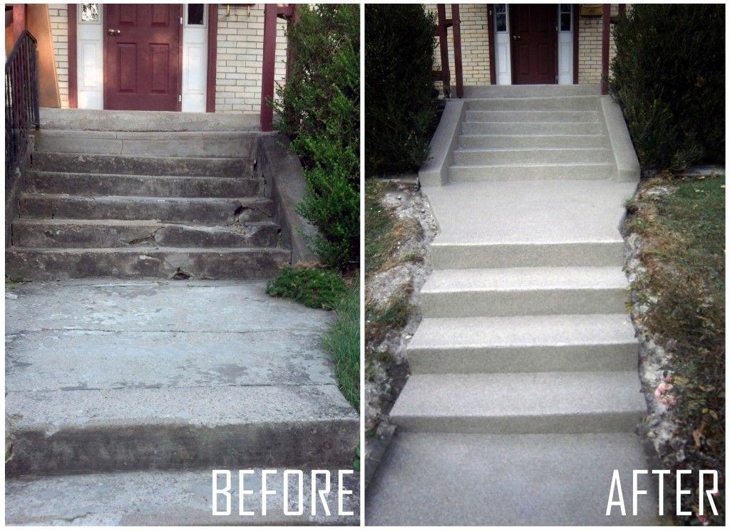 Graniflex Before After Pictures Dublin Ohio Concrete Decor