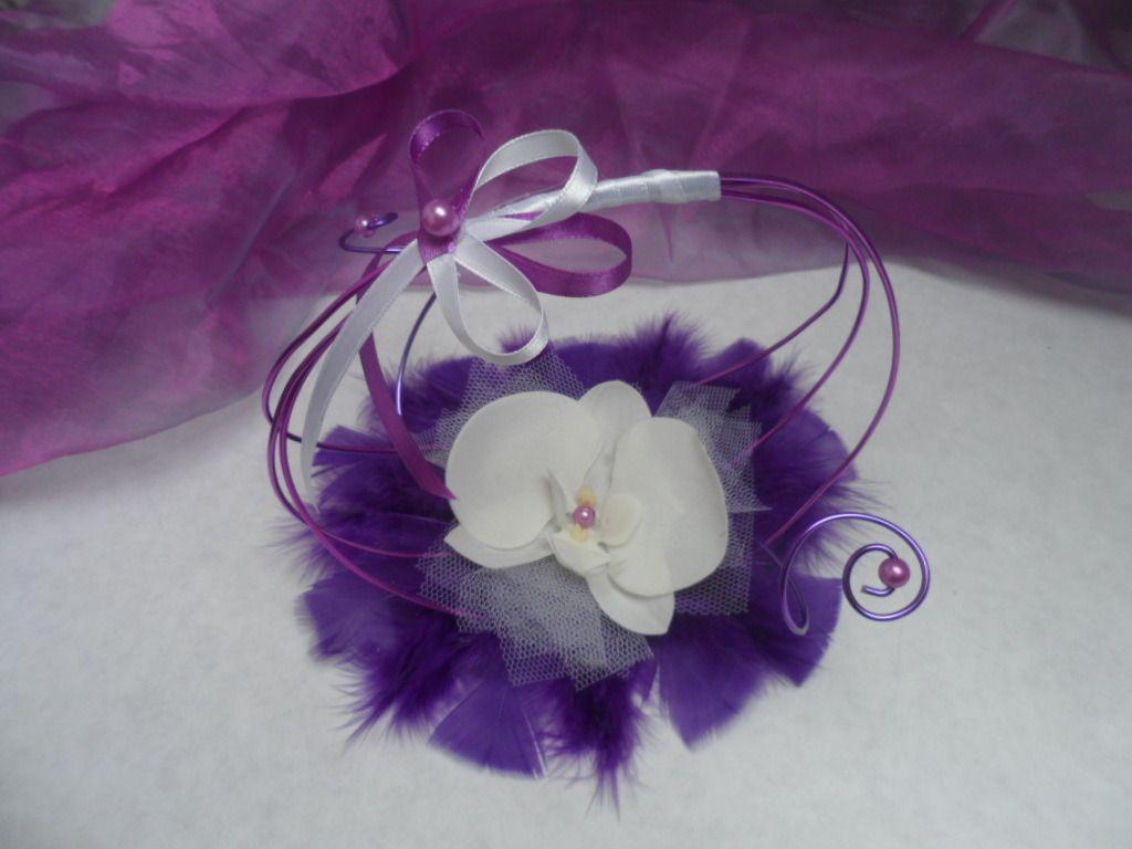 Porte alliances original blanc et violet et parme for Porte alliance original