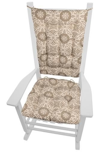 Signature Taupe Rocking Chair Cushion Set Latex Foam Fill In 2019